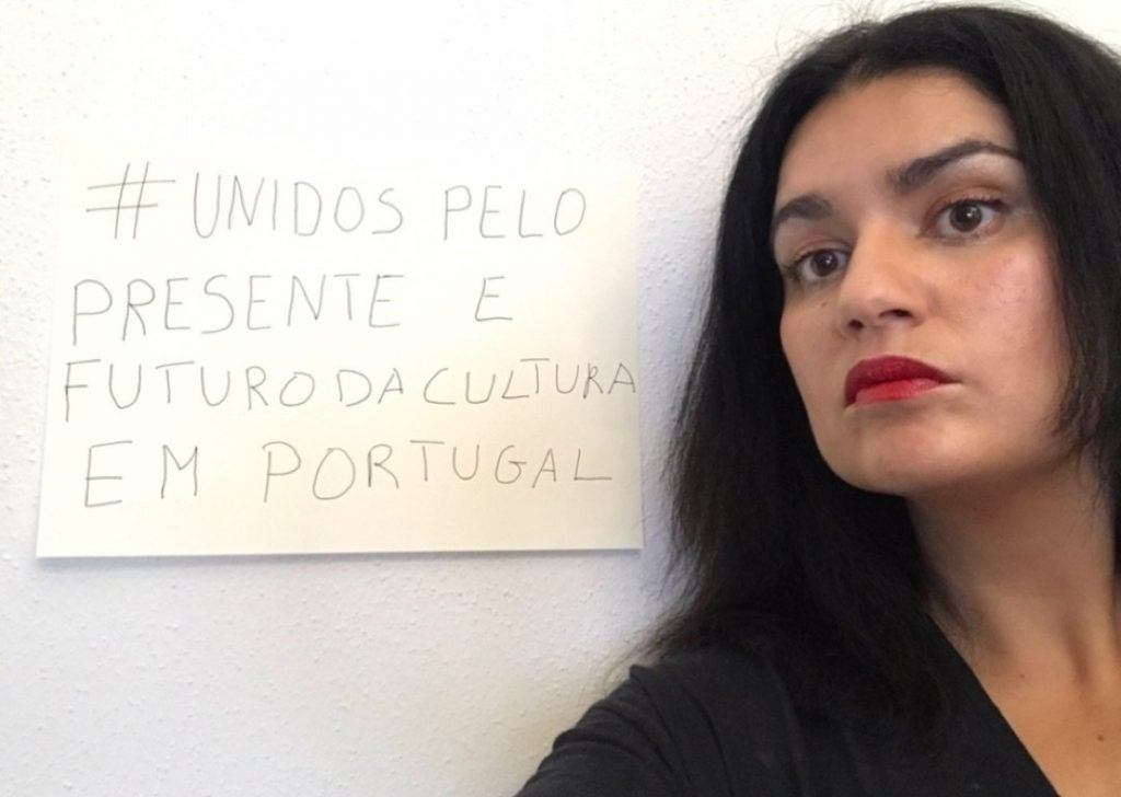 "Curator Ana Cristina Cachola in support of ""United For Culture in Portugal"""