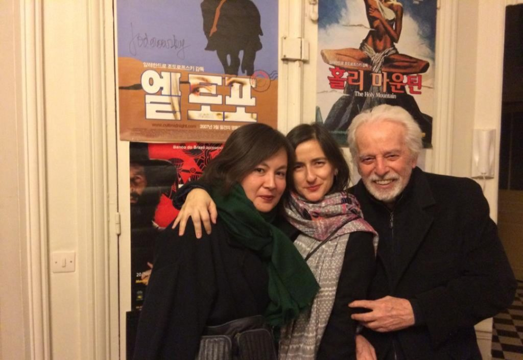 María Inés Rodríguez with Pascale Montandon-Jodorowsky et Alejandro Jodorowsky