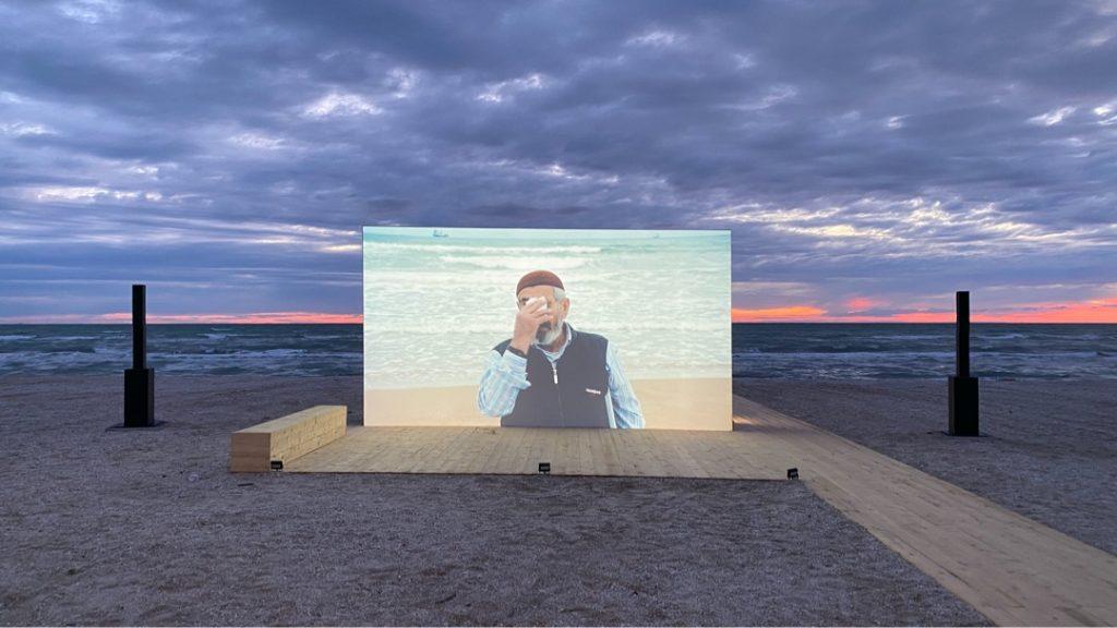 Demanio Marittimo, 2020, Sophie Calle, Voir la Mer 2011, video installation in Senigallia on the Adriatic sea