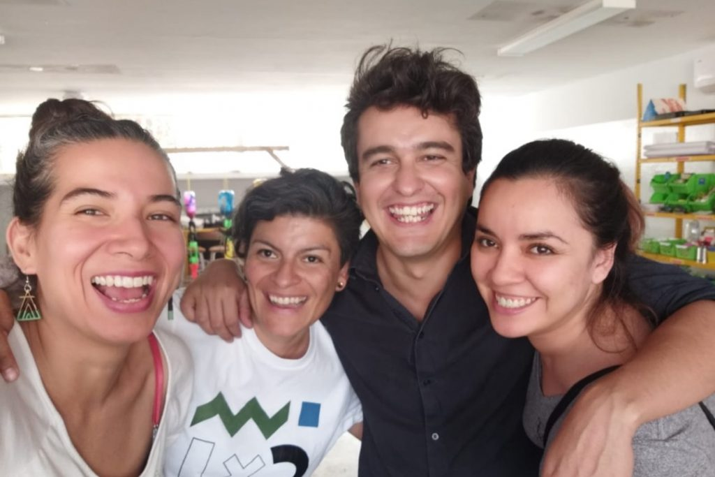 House of Inventions Team Claudia Hidalgo, Perla Montelongo, Roberto Cárdenas and former member Débora Peña