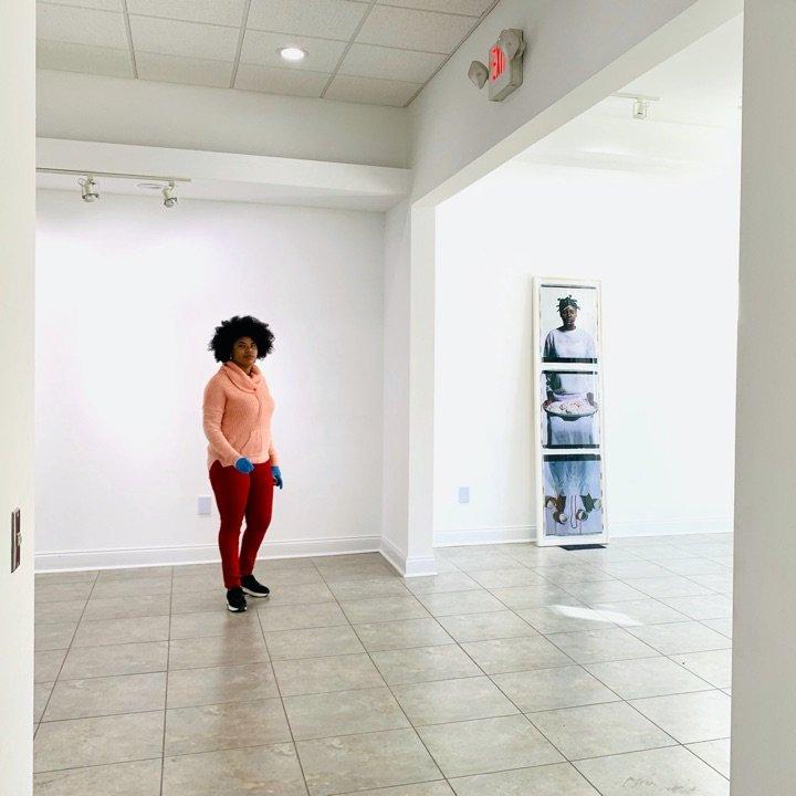 Installing Building a Feminist Archive Cuban Women Photographers 2019. Photo by Diana Larrea