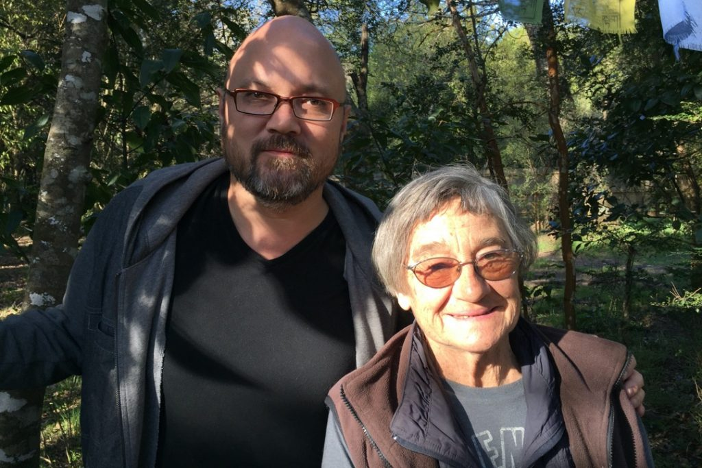 Choreographer Carmen Beuchat and Robert Crouch at her studio, Pucon, Chile