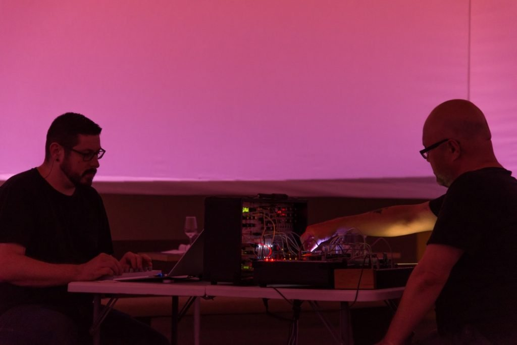 Robert Crouch and Yann Novak perform Spectrum at Monkeytown, Los Angeles 2016