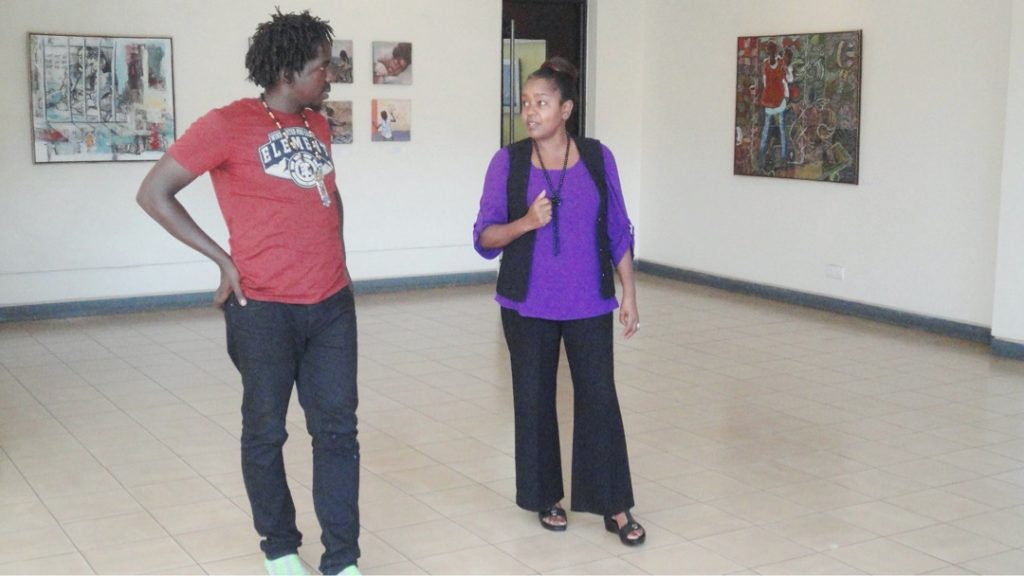 Lydia Gatundu Galavu, Artist talk with Jeffie Magina in his exhibition