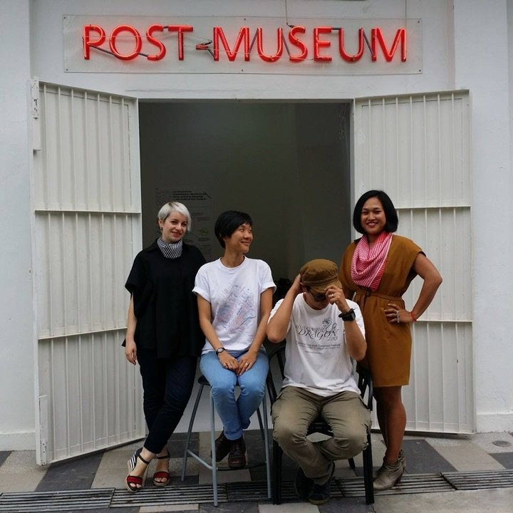 With Post Museum Anca Rujoiu, Jennifer Teo, Woon Tien Wei and Vera Mey, Gillman Barracks, Singapore 2014