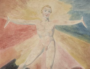 Albion Rose by William Blake, c. 1793, Colour engraving, 250 x 211 mm. On the occasion of the 2019/2020 exhibition at Tate Britain. Courtesy of the Huntington Art Collections and Tate Britain.