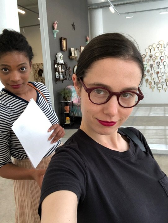 Taylor and Simone Krug at Genevieve Gaingard's exhibition. Vielmetter Los Angeles. 2019