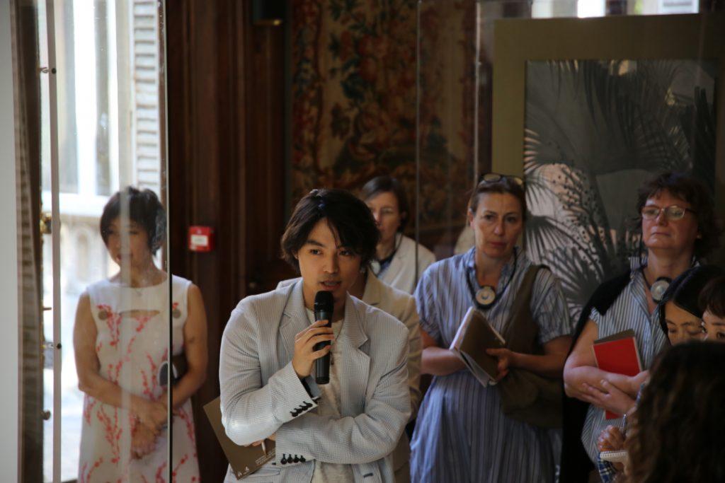 "Seiha Kurosawa. Talk during ""Dokkyaku (Lone Visitor) and Japanese painter, Isson Tanaka. Fukami - Une plongée dans l'esthétique Japonaise. 2018"