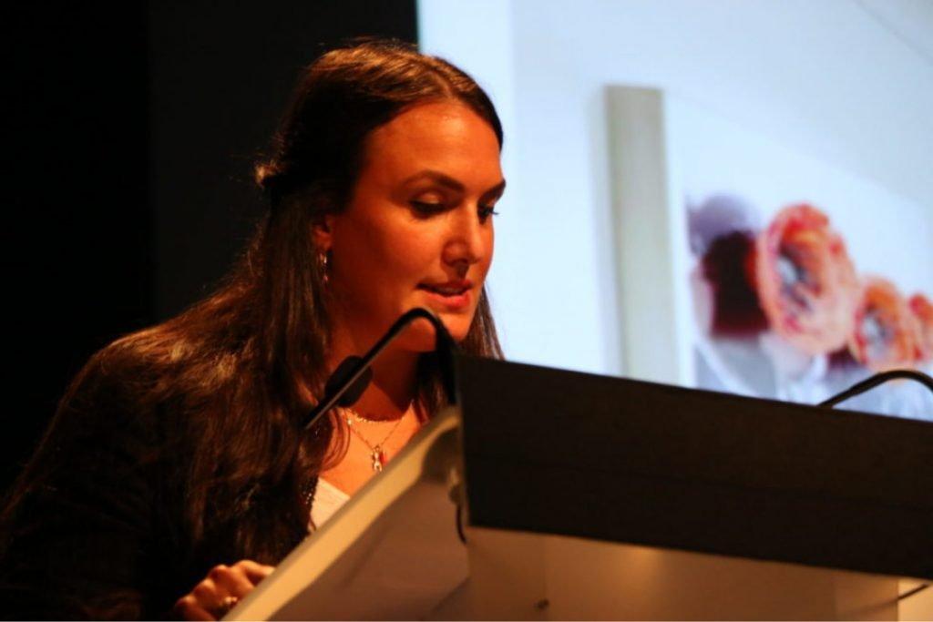Curator Madeleine Filippi at AICA France, 2020. Courtesy Aica France