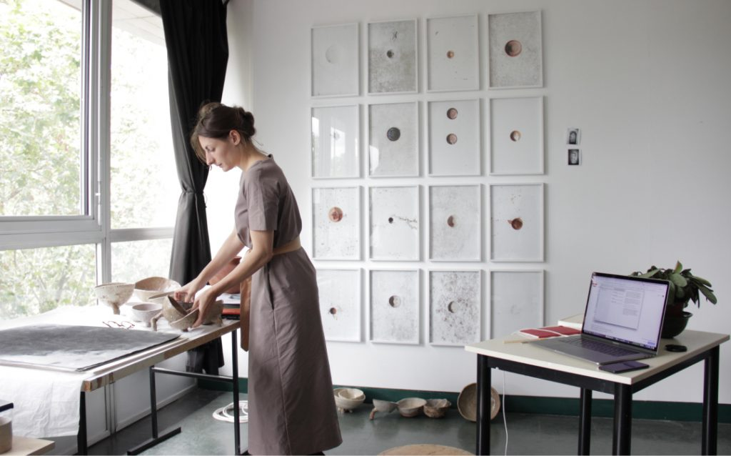 Camille Pradon. Atelier Cité Internationale des Arts. Paris 2021. Photography courtesy C-L Hoffsaes